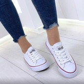Конверсы кеды белые Converse реплика
