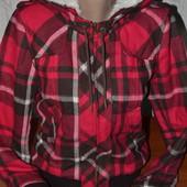 сток Большой выбор верхней одежды теплая куртка в клетку на меху с капюшоном