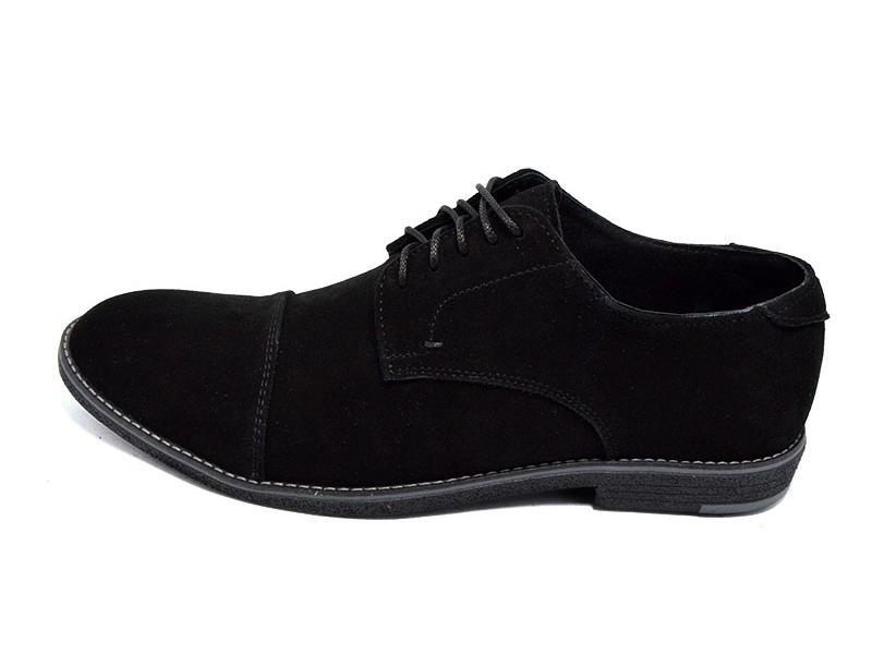 Последний размер!!! Туфли мужские замшевые Van Kristi сollection черные (реплика) фото №1