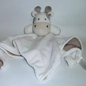 Игрушка -комфортер, большой слюновпитывающий платочек-одеяло, Коровка, Early days.