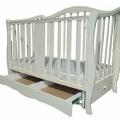 RoyalRoom Африка детская кроватка-диван на маятнике с ящиком