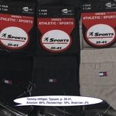 Носки женские Tommy Hilfiger, 4 модели, Athletic Sports, х/б деми спорт, средние, р. 35-41.