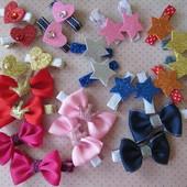 Заколочки банты, короны, звезды, сердце для маленьких модниц. В наличии