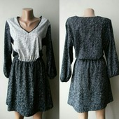 Легкое, свободное платье с декольте, размер с ( подойдет на м, смотрите замеры)