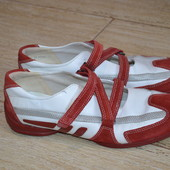 Ecco 38р балетки кожаные туфли