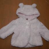 0-3 мес., р. 50-62, флисовая хорошенькая куртка пальто Tu демисезонная куртка