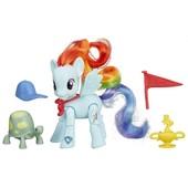 Рэйнбоу Дэш пони шарнирная с аксессуарами my little pony rainbow dash радуга