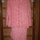 Пижама флисовая, женская, размер XXL,