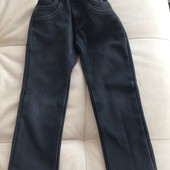 Тёплые брюки джинсыв школу