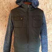 Мужская молодёжная курточка 48-54 размеры. Синяя и хаки