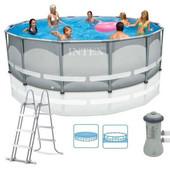 28310 бассейн каркасный + насос-фильтр 427*107см