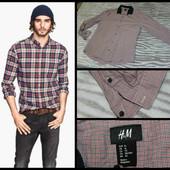 H&M.Slim Fit.Xl.Крутая рубашка в клетку.