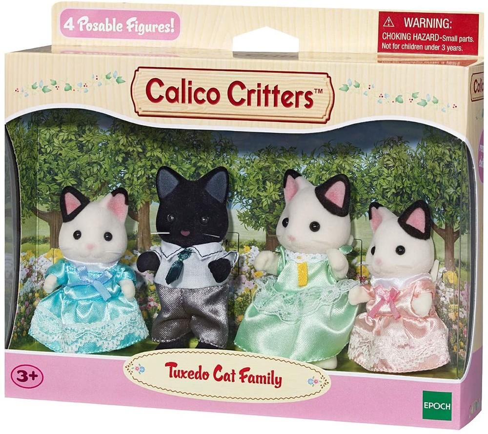 Набор сильваниан фэмилис семья котиков epoch sylvanian families tuxedo cat family фото №1
