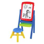 Набор для творчества Мольберт 8 доска, стульчик, маркер, губка, мел, буквы, цифры