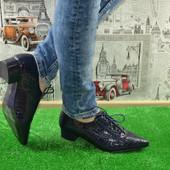 Женские туфли на шнурках.Хит весны!