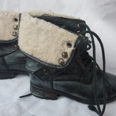 Стильные ботинки сапоги, 24-25р, очень классные, необычные, 16-16,5см