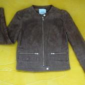 Шикарная натуральная замшевая курточка-жакет Mango,размер S.