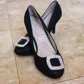 Туфли на среднем каблуке Т029