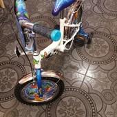 """Велосипед Русалочка 14"""", белый с голубым"""