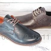 Мужские кожаные туфли в стиле Levis