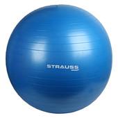Фитнес мяч Strauss гимнастический мяч с ножным насосом 65см