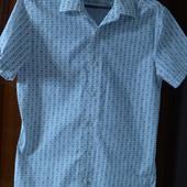 Модная рубашка Next 100% х/б р. S