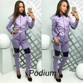 модная женская куртка р-ры с и м Ткань замш на подкладке, змейки металл  Цвета серо-голубой и сирень