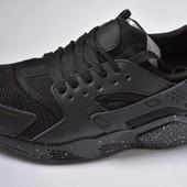Женские кроссовки Nike air Huarache найк хуарачи black черные