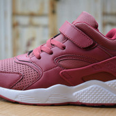 Кроссовки высокие Nike Air Huarache Red найк хуарачи красные
