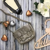 Стильный детский портфель Zara Girls с серебряным наплылением  Красивый детский портфель через плечо
