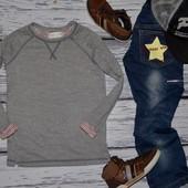 Обалденный мягкий реглан кофточка кофта мальчику 5 - 6 лет 116 см Зара Zara