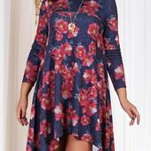 Размеры 50-56 Шикарное женское платье на весну