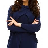 Размеры 42-48 Шифоновая женская блуза для офиса