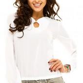 Размеры 42-48 Элегантная белая женская шифоновая блуза