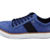 Мокасины мужские Multi Shoes синие (реплика)