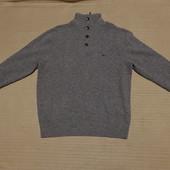 Мягкий серый шерстяной свитер на короткой застежке McGregor 54- 56 р