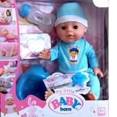 Пупс кукла беби борн 1710 Baby Born копия