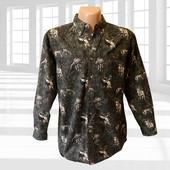 Плотная рубашка с принтом хлопок р.М Falls Creek Сша