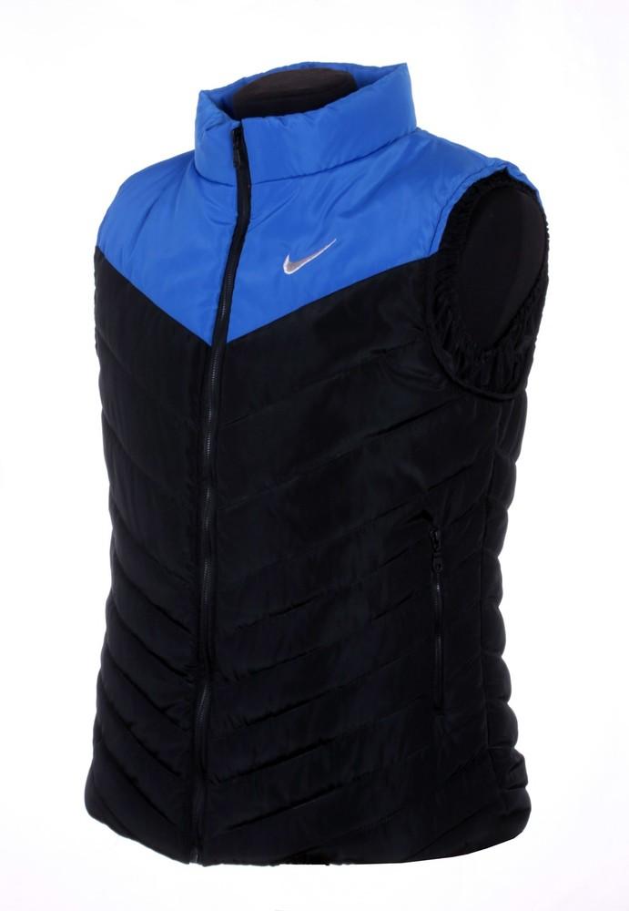 Жилетка Nike, р. M-XXL синий с черным, синий, черный, черн. с син фото №1