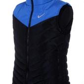Жилетка Nike, р. M-XXL синий с черным, синий, черный, черн. с син
