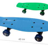 Скейт 42см, колеса PVC, рама пластик