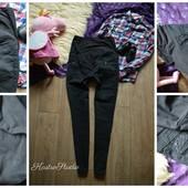 Легкие черные джинсы- скинни для беременных,р-р М