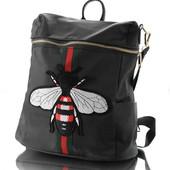 Рюкзак молодежный с нашивкой Мухой 12544 два цвета