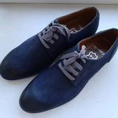 Кожаные летние туфли. Размер 42