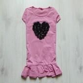 Стильная футболка-туника для девочки. Matalan. Размер 8-9 лет. Состояние: новой вещи