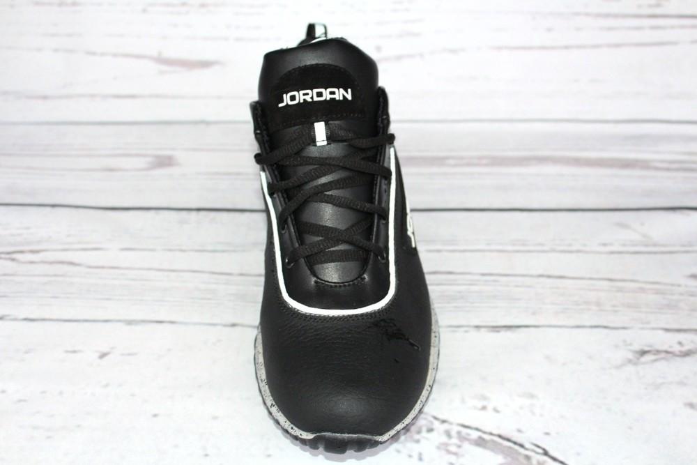 Мужские кожаные кроссовки, 2 вида, черные фото №3