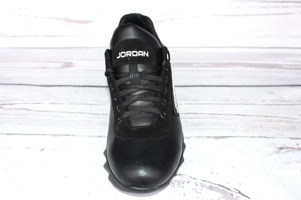 Мужские кожаные кроссовки, 2 вида, черные фото №7