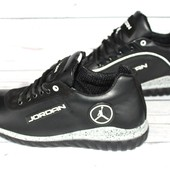 Мужские кожаные кроссовки, 2 вида, черные