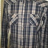 теплая мужская рубашка из биохлопка.Livergy.Германия