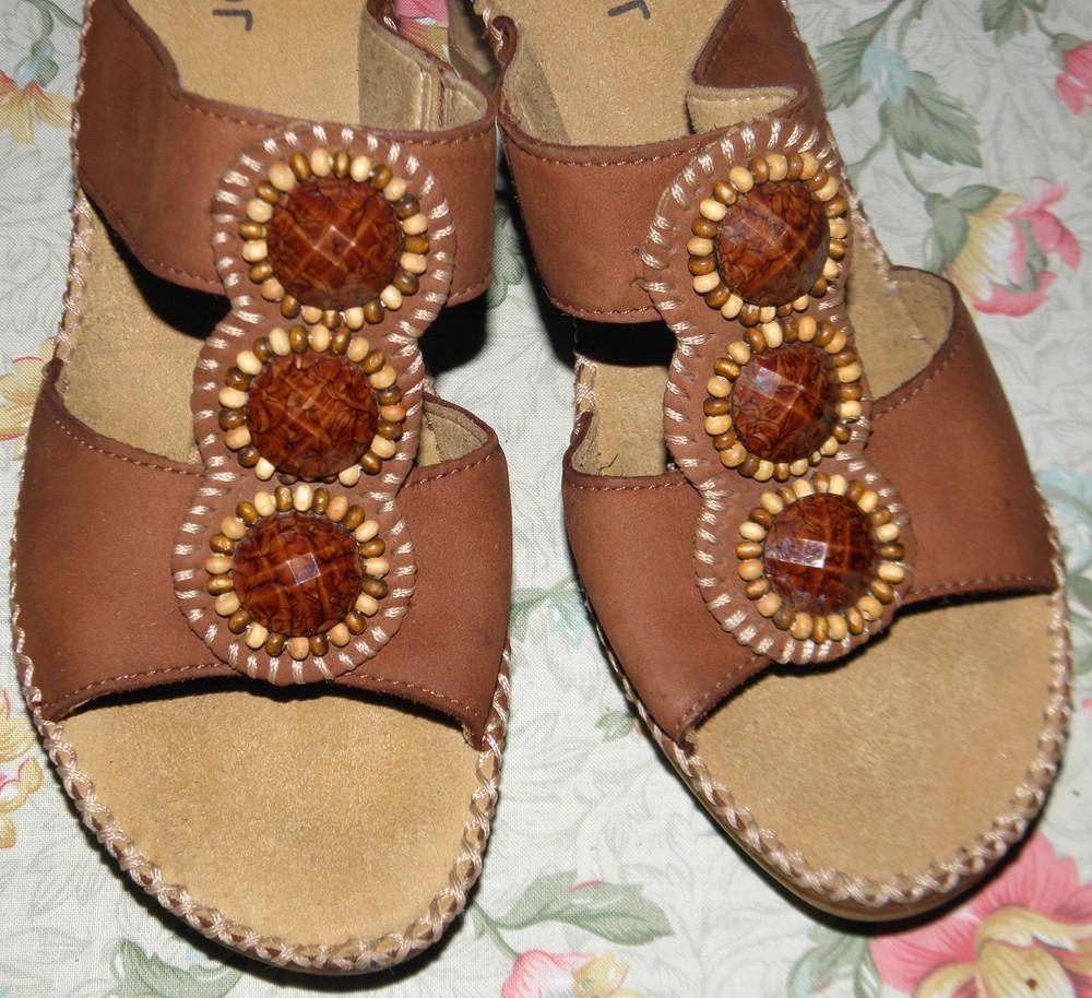 """Женские кожаные босоножки """"gabor"""" суперудобные. размер: 36,5- 37. стелька- 24,5 см. доставка 0 грн.  фото №1"""